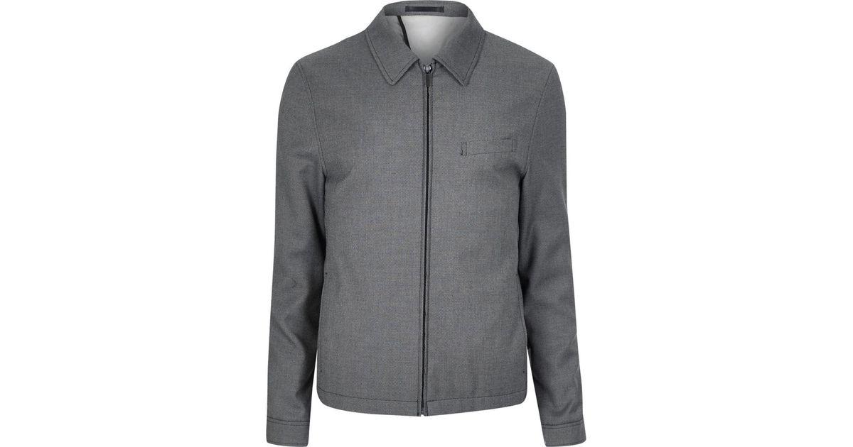 River Island Grey Textured Suit