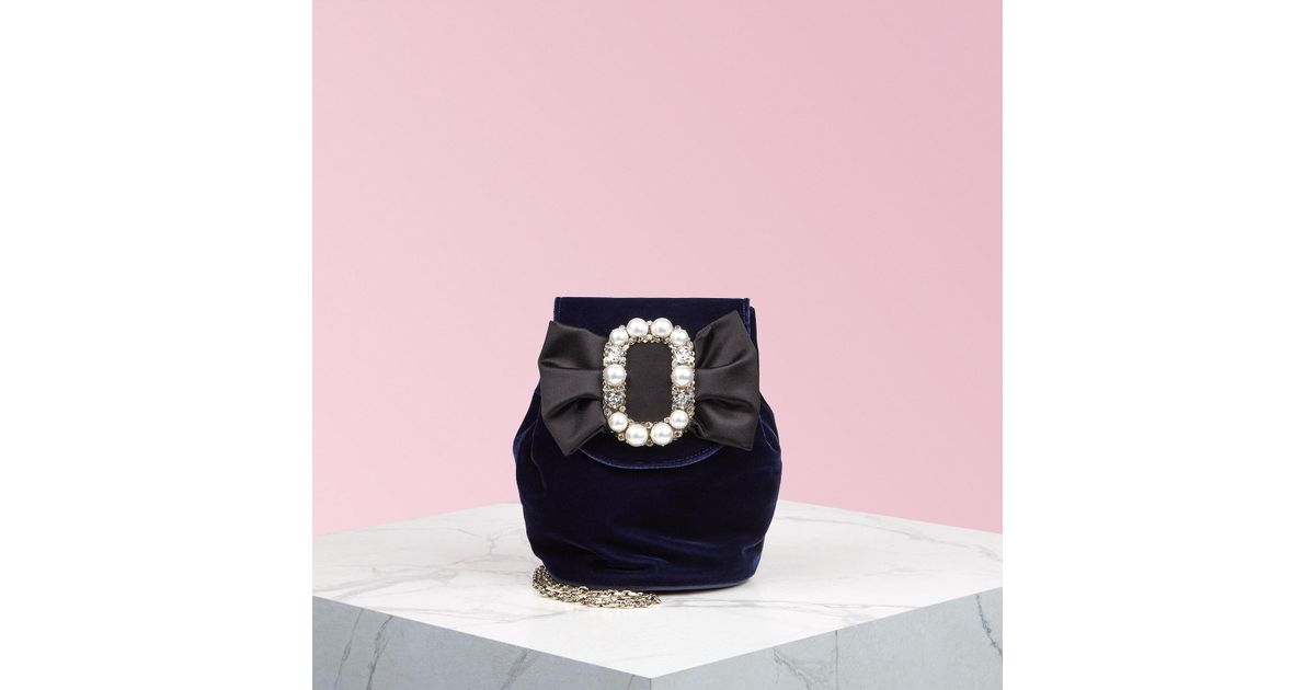 4ab77adf666f Lyst - Roger Vivier Pearl Bow Buckle Mini Backpack