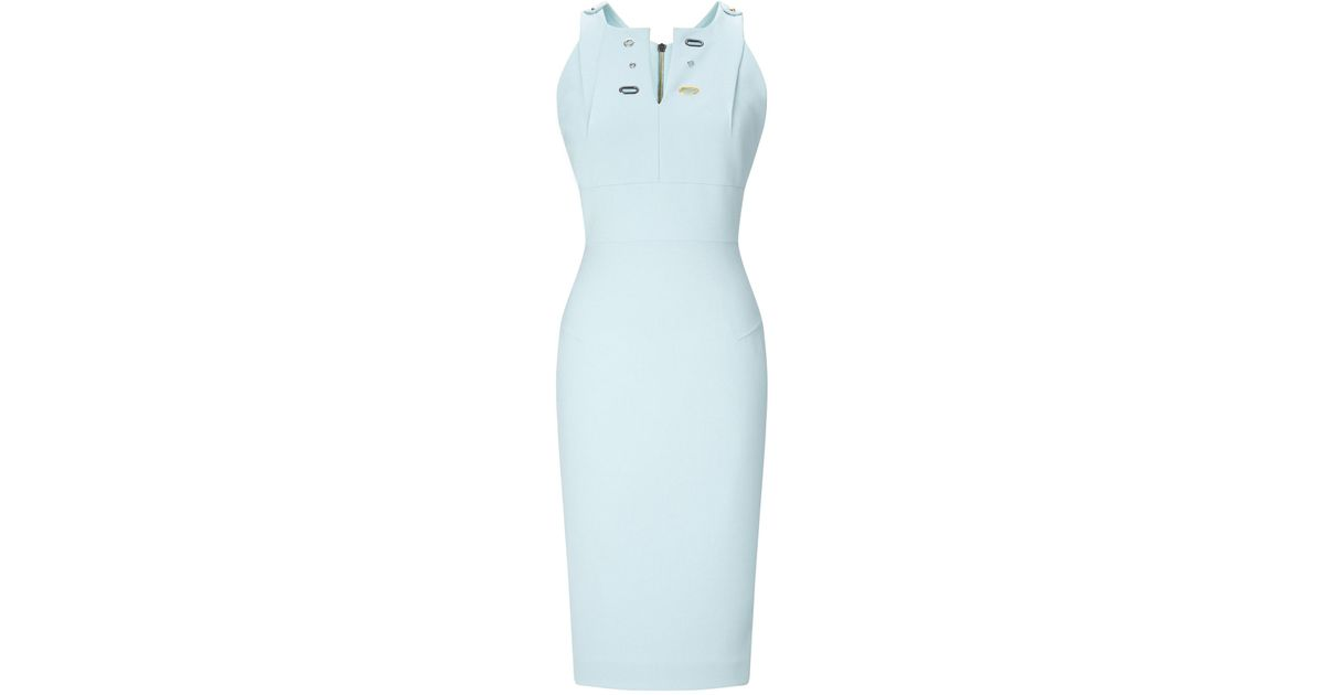 a520f37f57 Lyst - Roland Mouret Orpington Dress in Blue