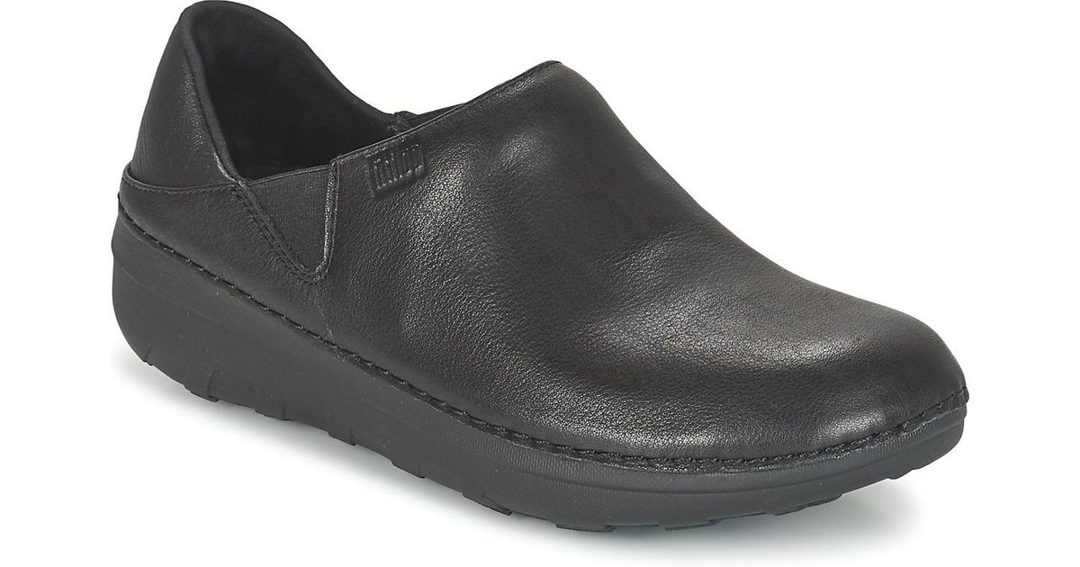 16eab641e3d1 Fitflop Superloafer (leather) Loafers   Casual Shoes in Black - Lyst