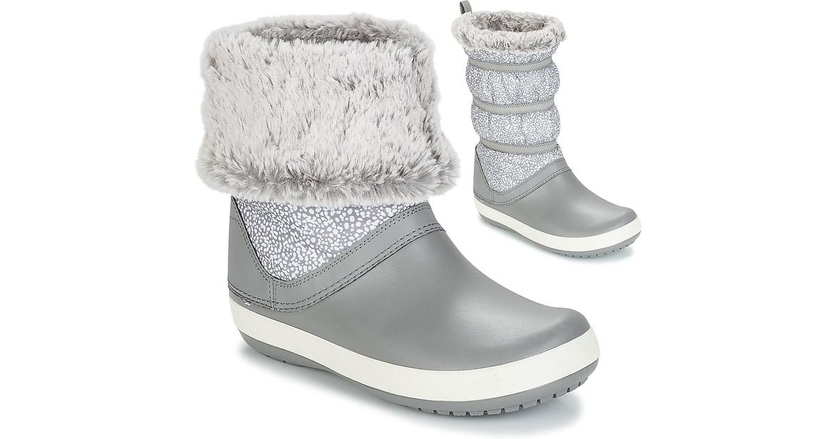 f11ab3fecb0 Crocs™ Crocband Winter Boot W Snow Boots in Gray - Lyst