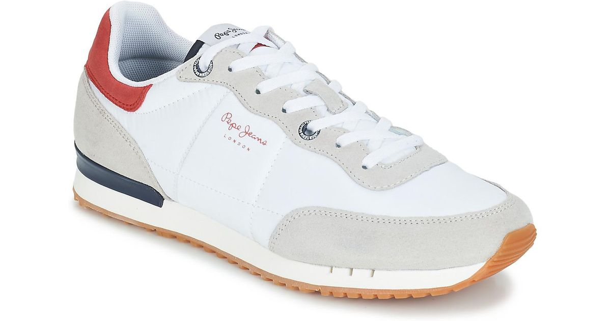 Pepe Jeans Tinker Basic Nylon Men s Shoes (trainers) In White in White for  Men - Save 7% - Lyst de7e35ef20