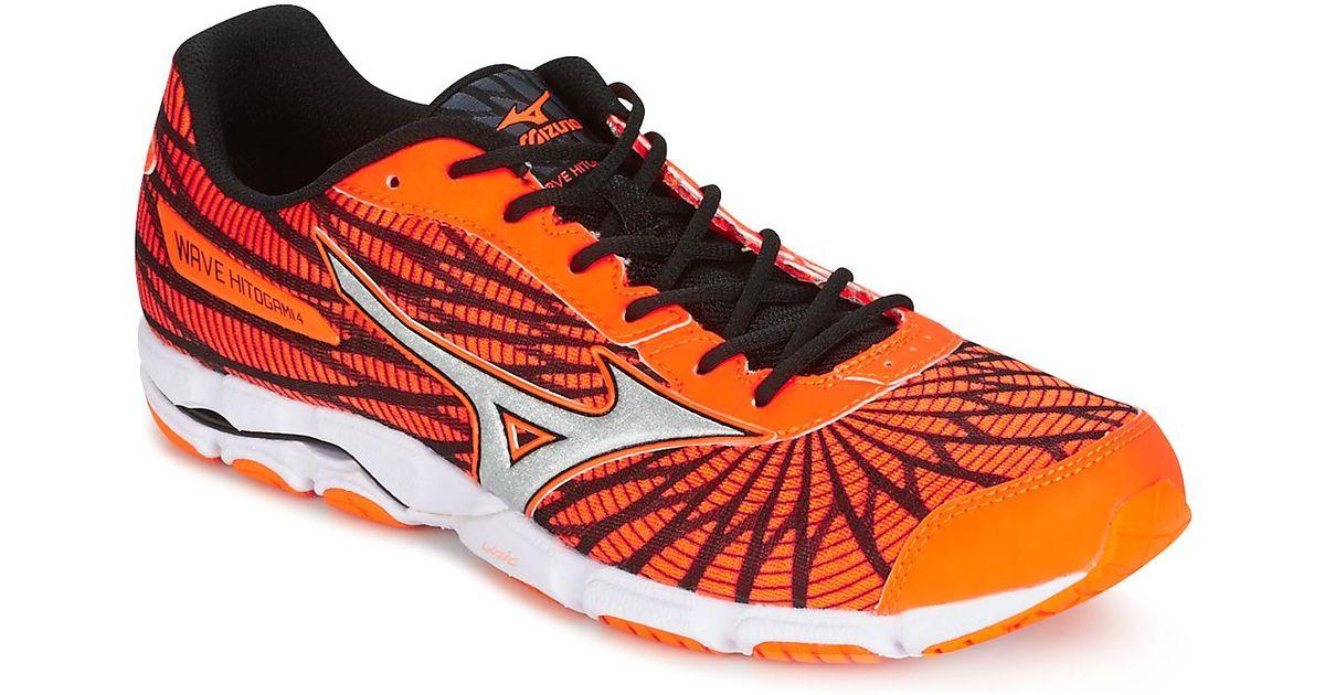 on sale 6f63f 186b7 Mizuno - Orange Wave Hitogami 4 Running Trainers for Men - Lyst