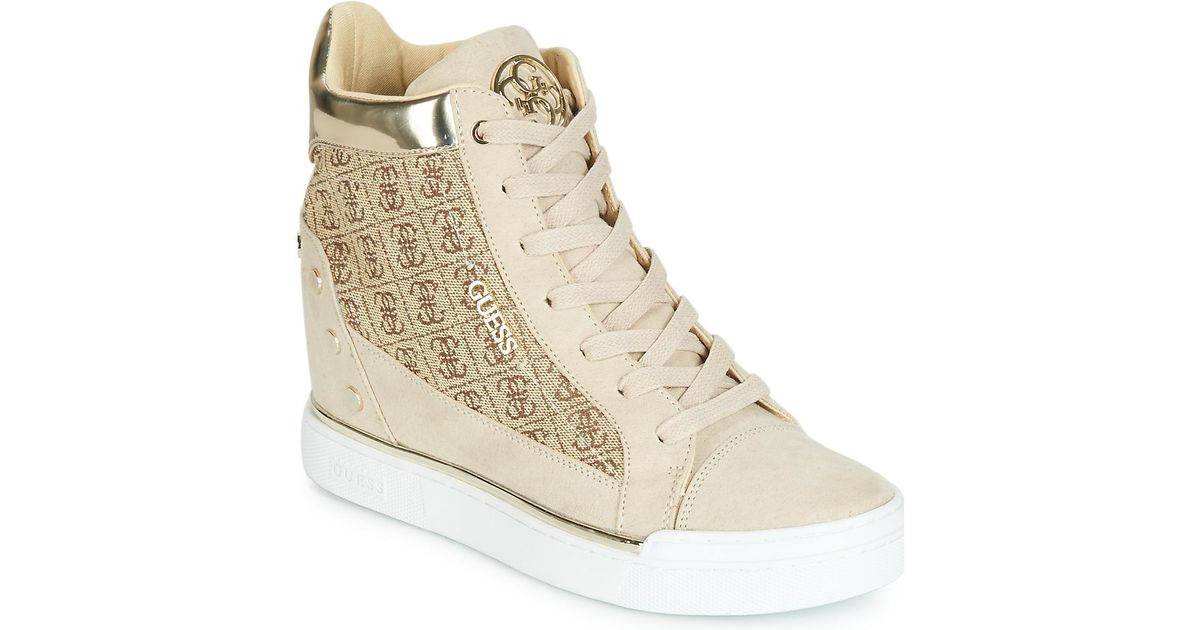 97736aeaf79a5 Guess Finly Shoes (high-top Trainers) in Black - Lyst