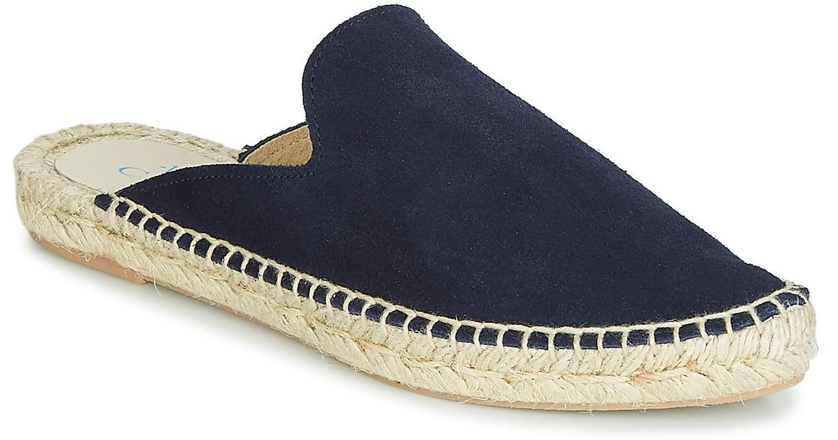 Cala Casual Leather Espadrilles Lyst Blue 1789 Mala In Shoes 8OPXn0wk