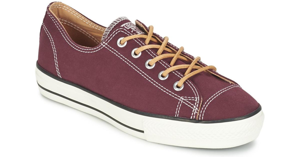 6f4bb343d2e6 Converse Chuck Taylor All Star Shroud Textile Ox Shoes (trainers) in Red -  Lyst