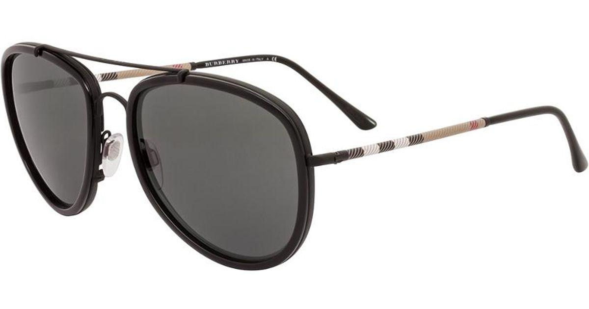 9fcf980a38 Lyst - Burberry Men s Be3090q 58mm Sunglasses for Men