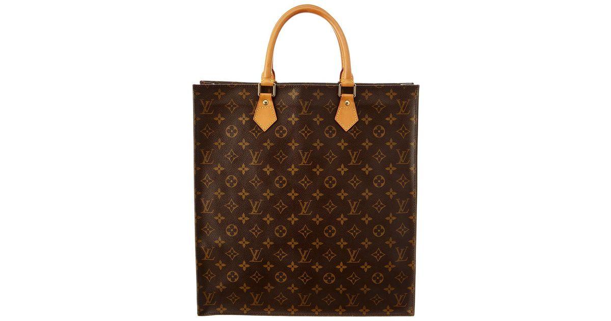 6912bcceaa90 Lyst - Louis Vuitton Monogram Canvas Sac Plat in Brown