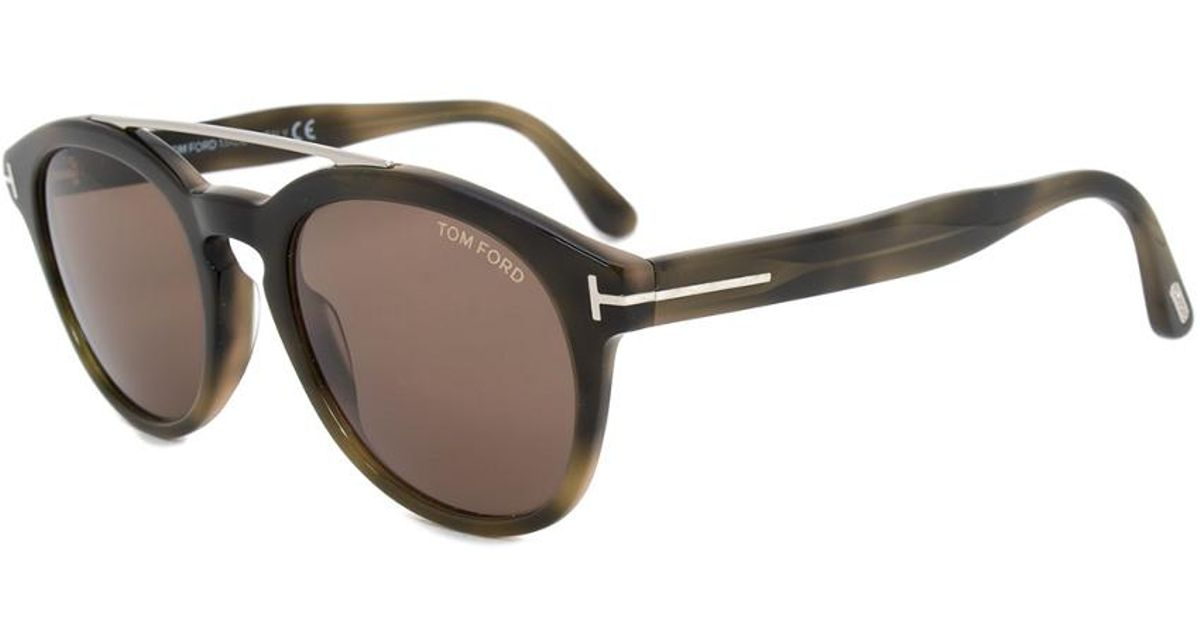 870b1392f3 Tom Ford - Multicolor Women s Newman Round Sunglasses Ft0515 55e 53 53mm  Sunglasses - Lyst