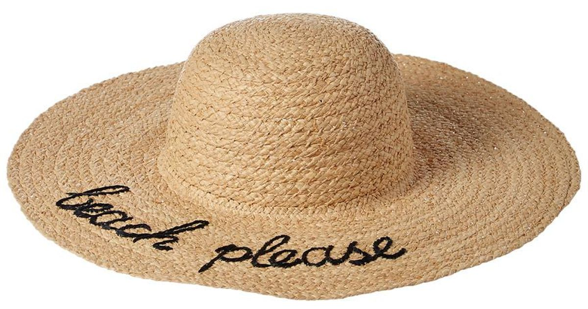 06382dff9cc Lyst - Hat Attack What s Your Motto Straw Hat in Natural