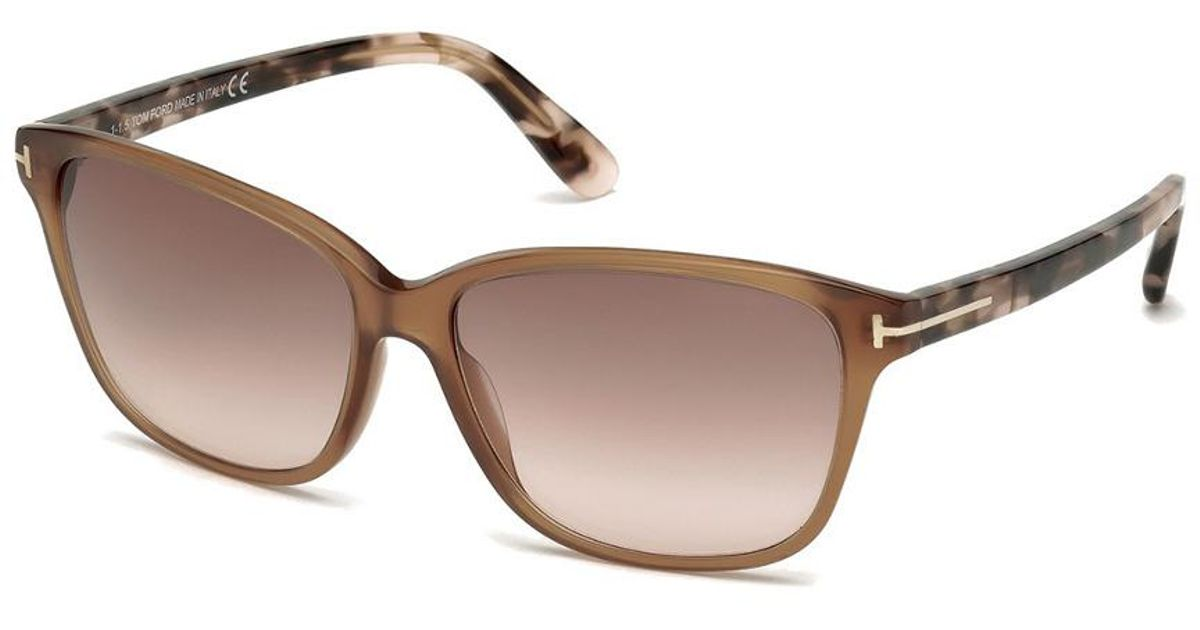 2c884458fa9f8 Lyst - Tom Ford Women s Dana 59mm Sunglasses in Brown