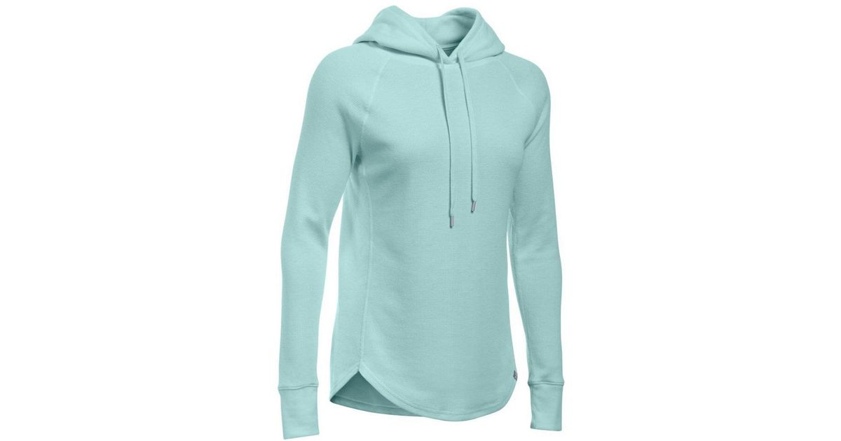 61f2a59d Under Armour Women's Waffle Hoodie in Blue - Lyst