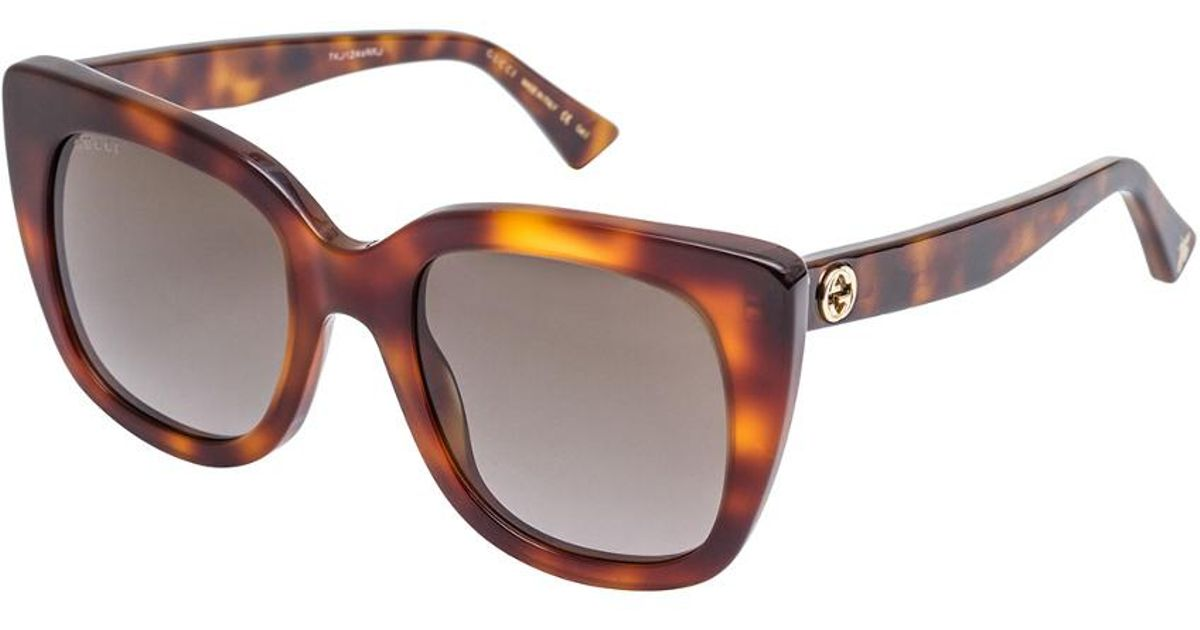 73bb1aed45a Lyst - Gucci Women s Gg0163s 51mm Sunglasses in Brown