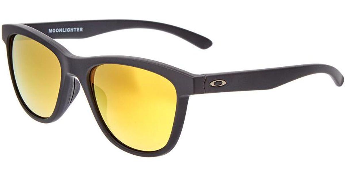a2dbae3ab0e Lyst - Oakley Women s Moonlighter Polarized 53mm Sunglasses