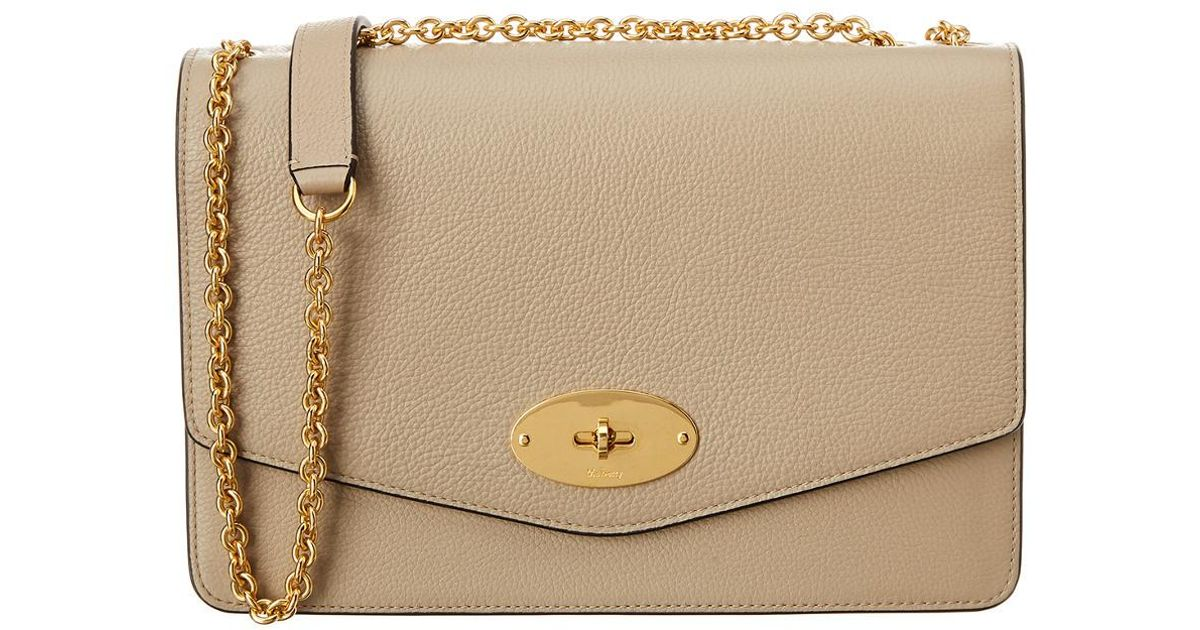 07c41ba006d9 Lyst - Mulberry Large Darley Leather Crossbody in Natural