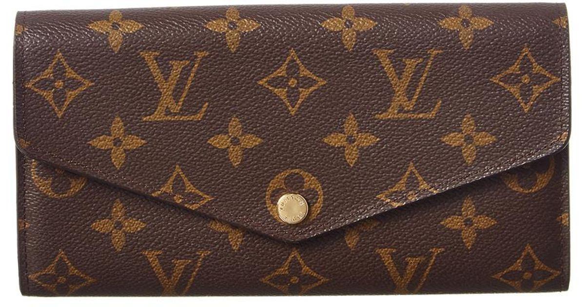 0693becb3e3 Louis Vuitton - Brown Monogram Canvas Sarah Wallet Nm - Lyst