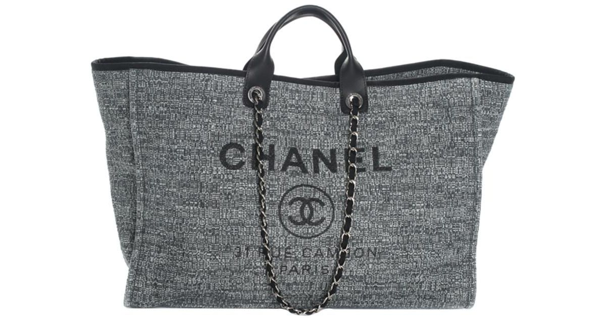 3bd39296747b8a Chanel 2018 Limited Edition Blue Canvas Deauville Grande Shopper in Blue -  Lyst