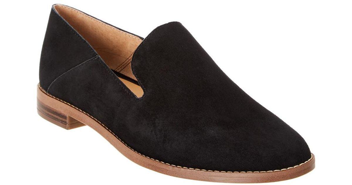 ee710ed9268 Lyst - Franco Sarto Haylee Suede Loafer in Black