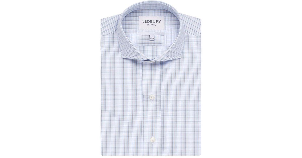 75ba6c7483d1 Lyst - Ledbury The Easton Check Classic Fit Shirt in Blue for Men