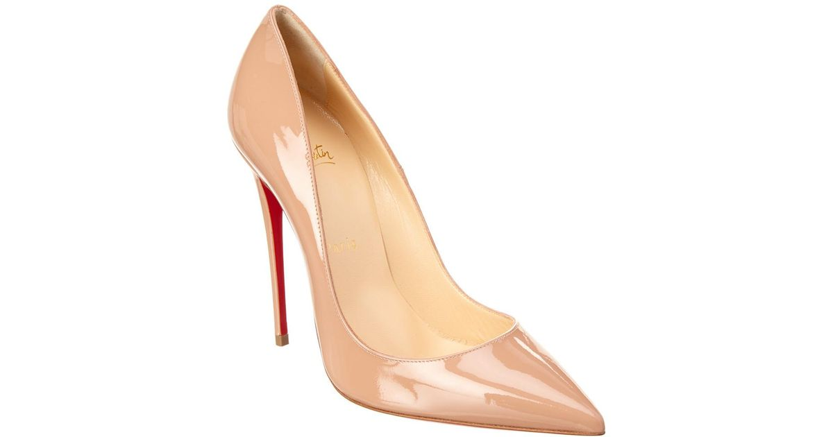 f9598bc93c8 Christian Louboutin So Kate 120 Patent Pump in Natural - Lyst