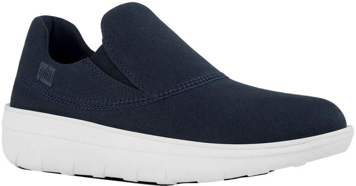 6d4a733c76d Lyst - Fitflop Loaff Sporty Slip-on Sneaker in Blue