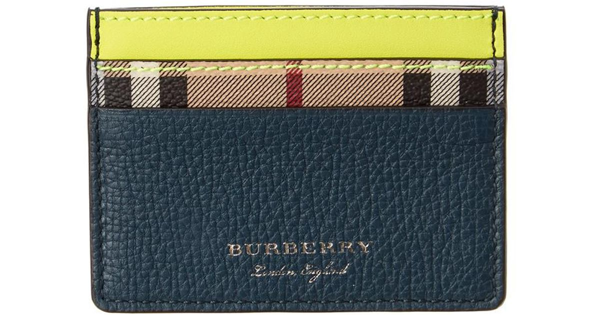 Burberry Two-tone Leather Card Case Classic For Sale Buy Cheap Outlet Locations Cheap Sale New Arrival yXtYikcu6