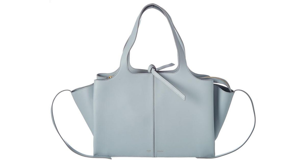 Céline Céline Medium Tri-fold Leather Shoulder Bag in Blue - Lyst 2cf9d73314aab