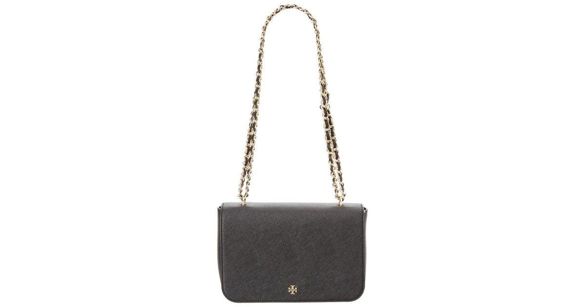 e16452ff40f8 Tory Burch Emerson Leather Adjustable Shoulder Bag in Black - Lyst
