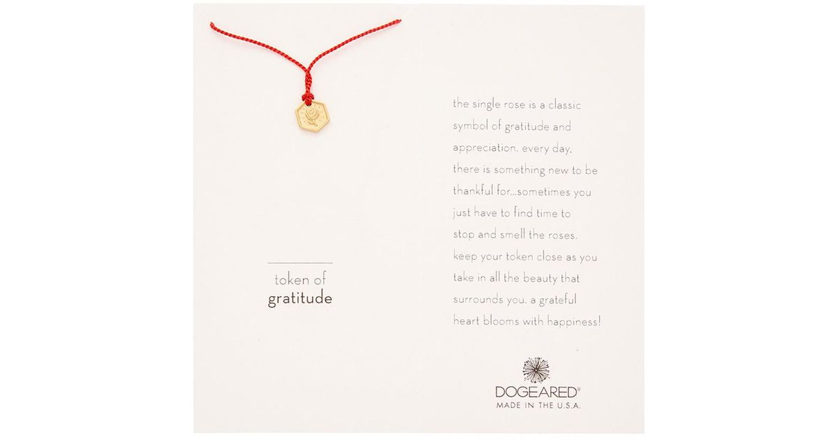 Lyst - Dogeared 14k Gold Over Silver Token Of Graditudenecklace in Metallic  - Save 5%