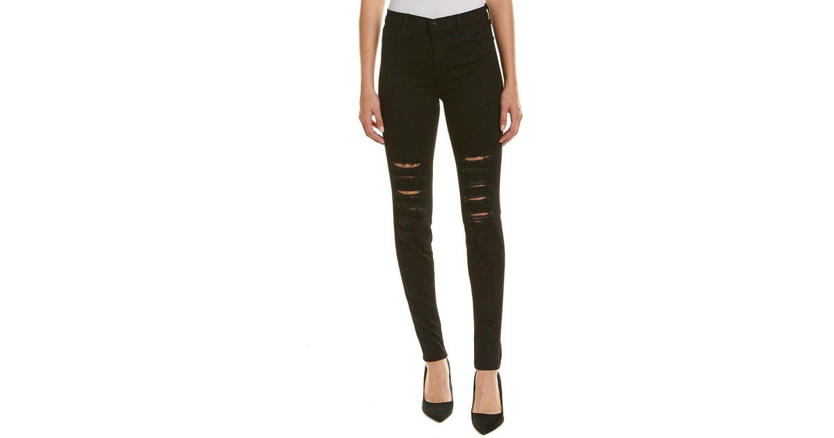 553a49a0fcb4 Lyst - J Brand Maria Black Heart High-rise Skinny Leg in Black