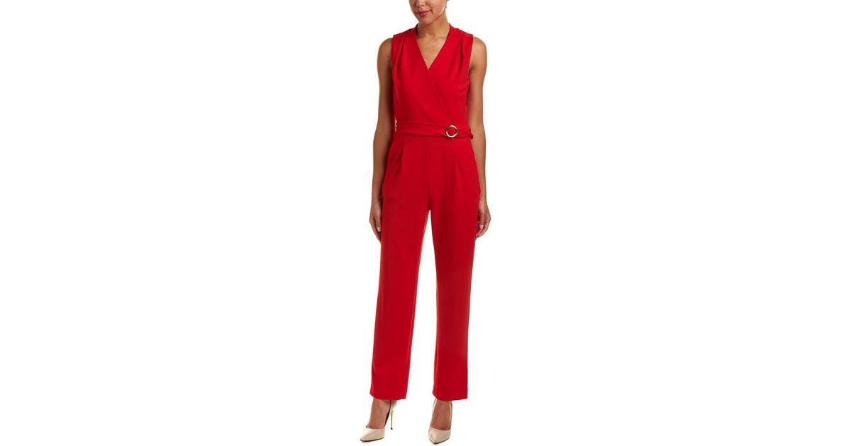 5fc8e6a849db Lyst - Tahari Tahari Asl Jumpsuit in Red