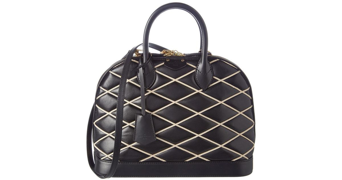 Lyst - Louis Vuitton Limited Edition Black Malletage Leather Alma Pm in  Black 6ee6761787636