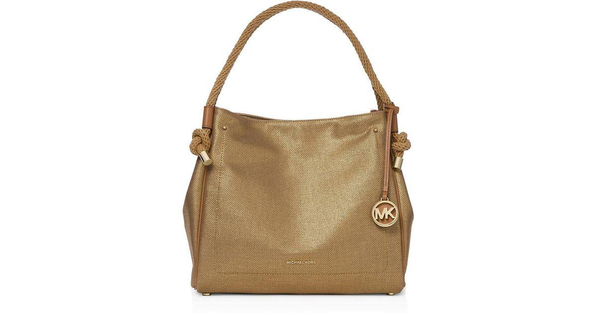 72548b110773 MICHAEL Michael Kors Isla Large Textured Leather Grab Bag - Lyst