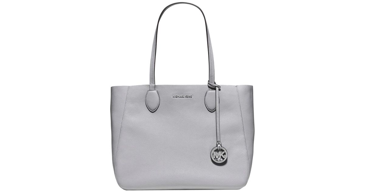 161689a496 Lyst - MICHAEL Michael Kors Mae Soft Leather Reversible Carryall Tote