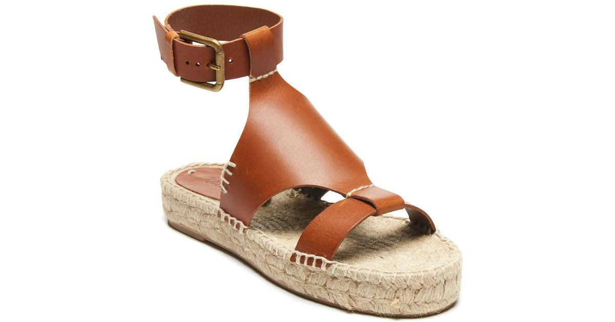 8f4e5aa391a Lyst - Soludos Banded Shield Sandal in Brown
