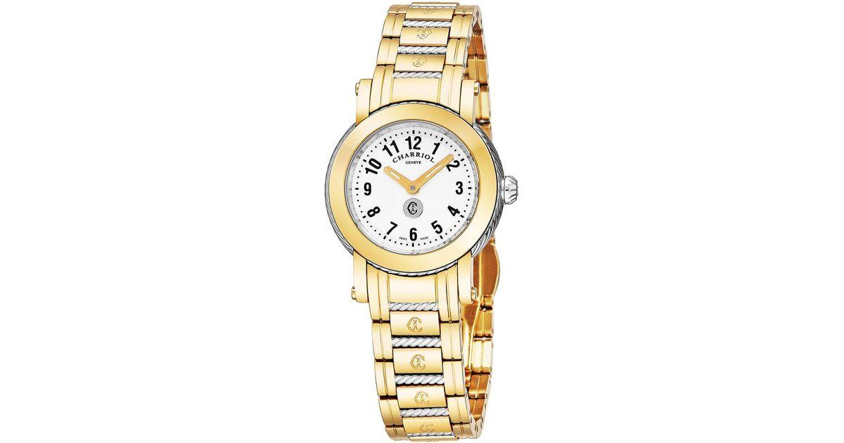a67a3988eb9 Lyst - Charriol Women s Parisi Watch in Metallic for Men