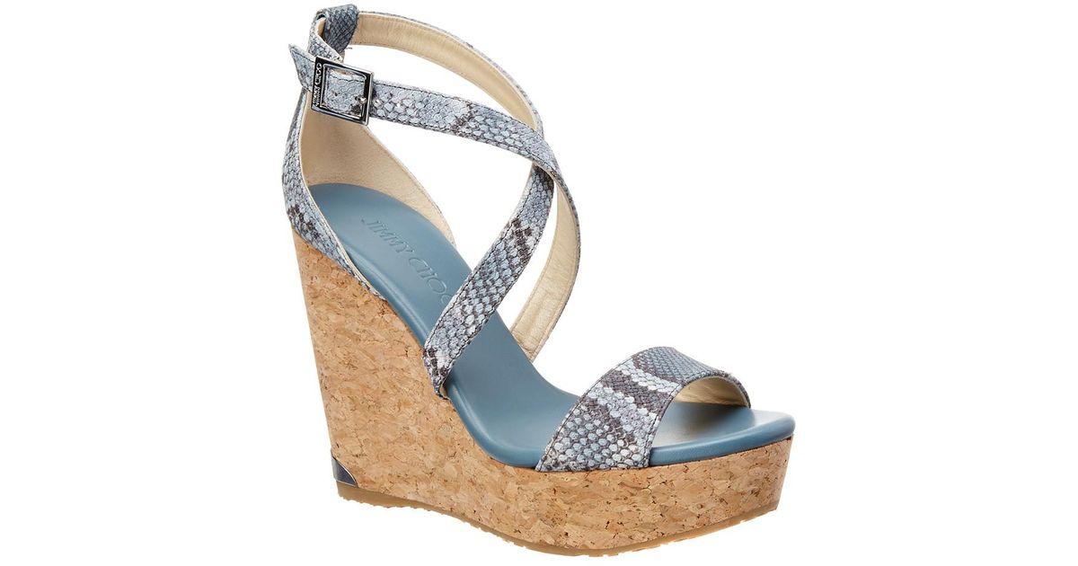 Jimmy Choo Embossed Platform Sandals sale enjoy 8iDRp