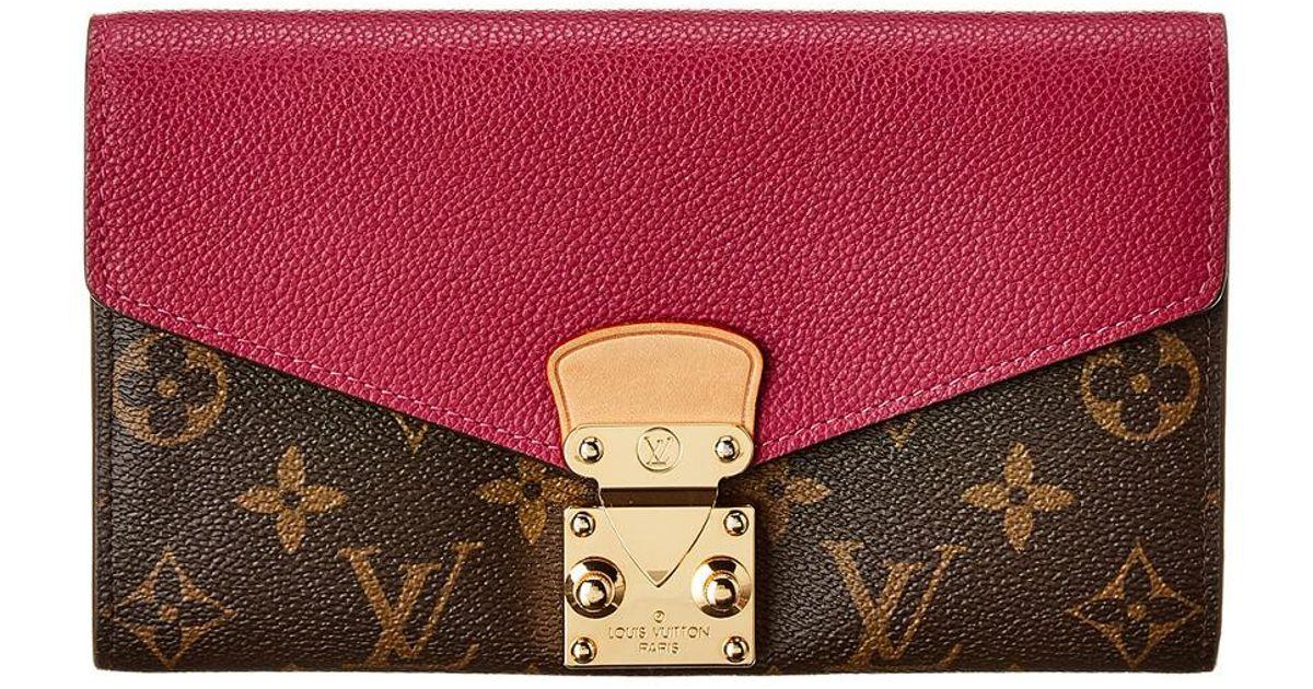 0842dc6f8a6 Louis Vuitton Red Monogram Canvas Pallas Wallet