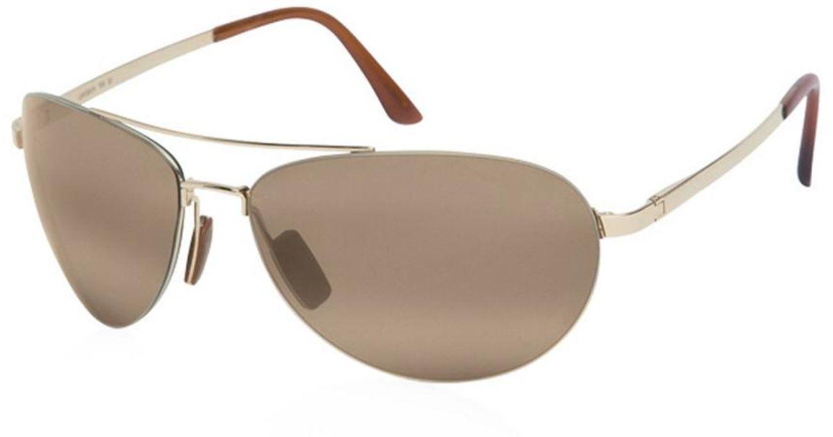 4b1c17b7a4b Lyst - Maui Jim Unisex Pilot Polarized Sunglasses for Men