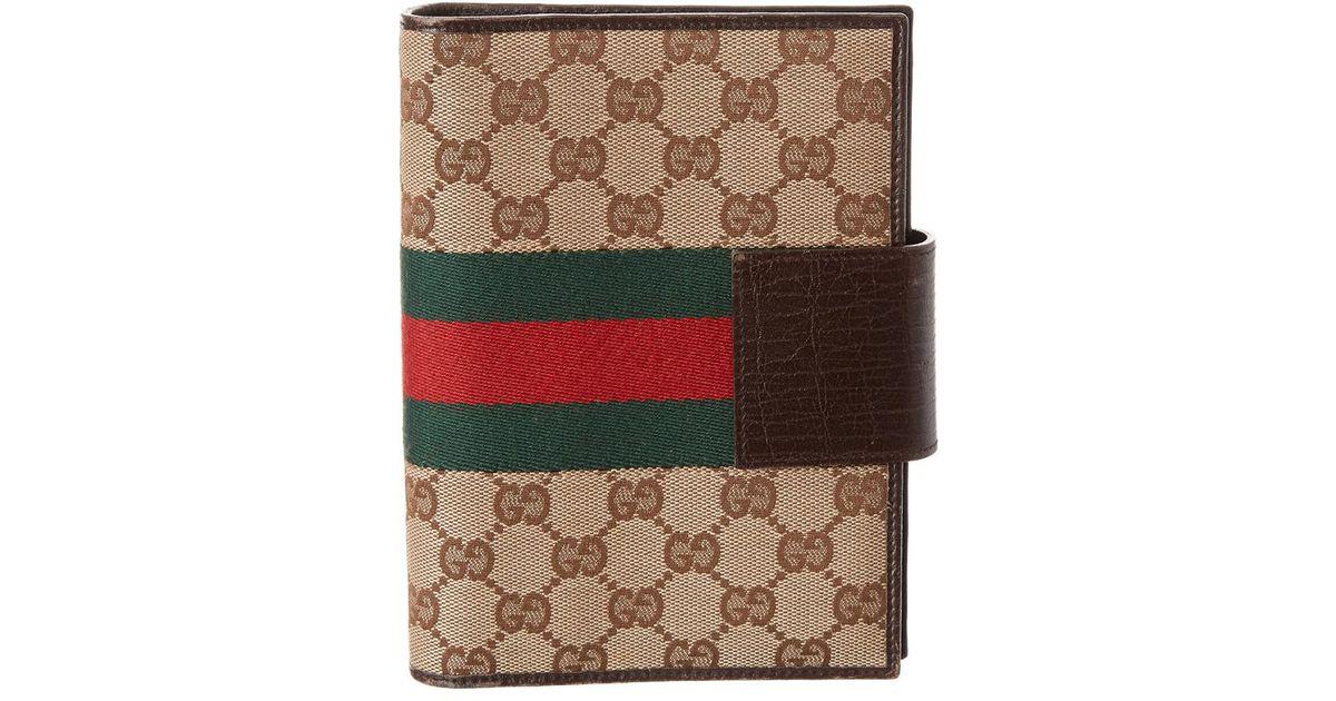 578c76465f9b3 Lyst - Gucci Brown Gg Supreme Canvas Agenda in Brown