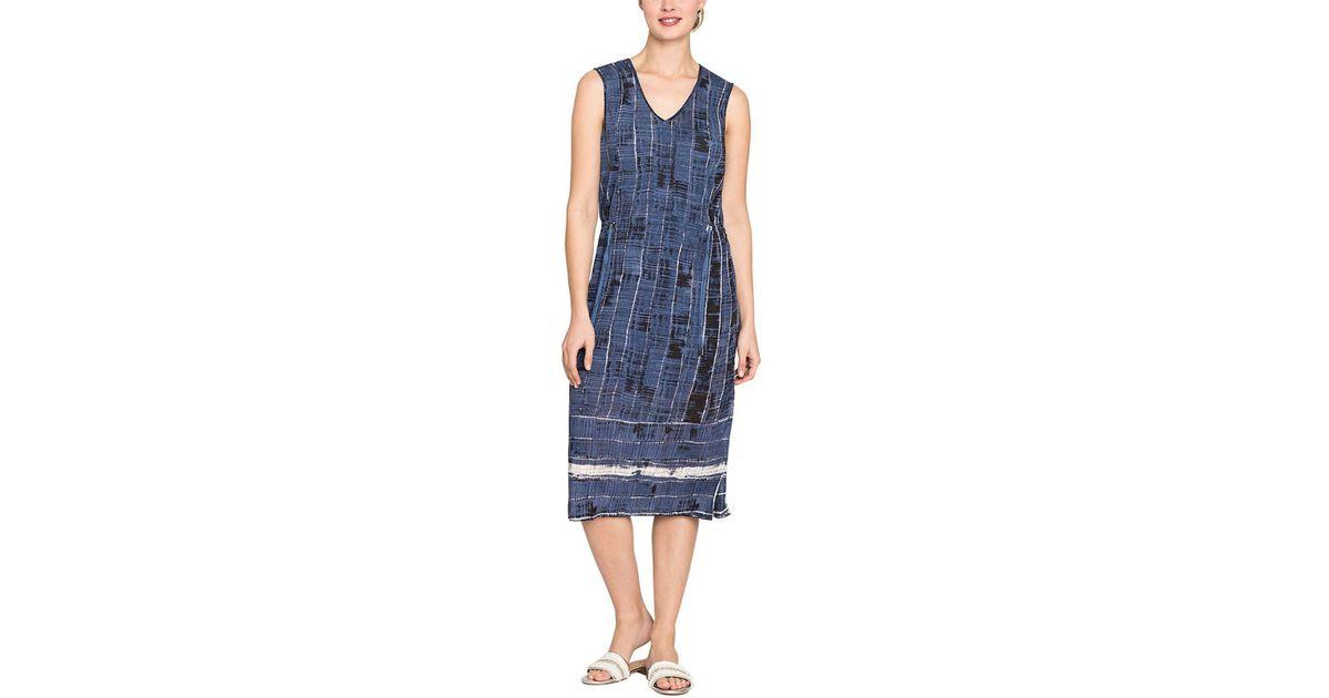4063b77e737 Lyst - NIC+ZOE Linen-blend Dress in Blue