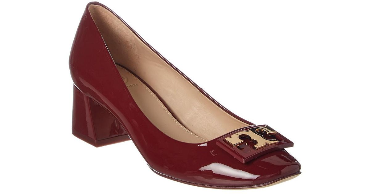 10c0b006c Tory Burch Gigi Patent Mid-heel Pump in Red - Lyst