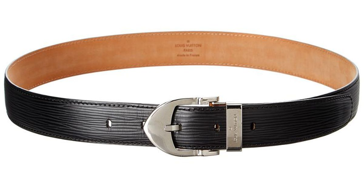 Lyst - Louis Vuitton Black Epi Leather Ceinture Classic Belt (size 32) in  Brown 4b7b090fdfb