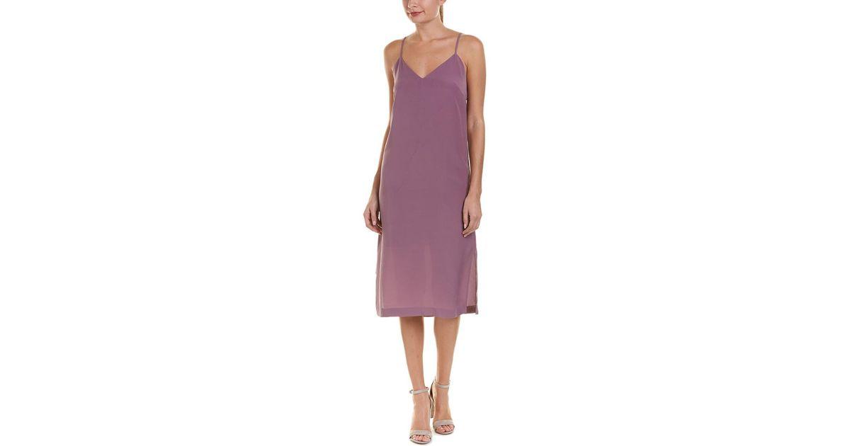 Lyst Kensie Midi Slip Dress In Purple