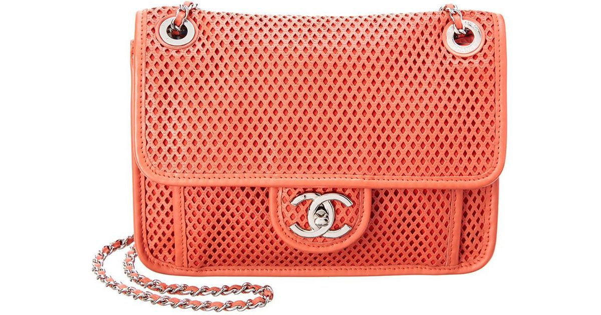 802f8a990986 Chanel Limited Edition Red Perforated Leather Medium French Riviera Bag in  Red - Lyst