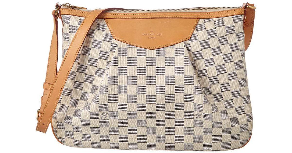 9fb3ab88d339 Lyst - Louis Vuitton Damier Azur Canvas Siracusa Mm