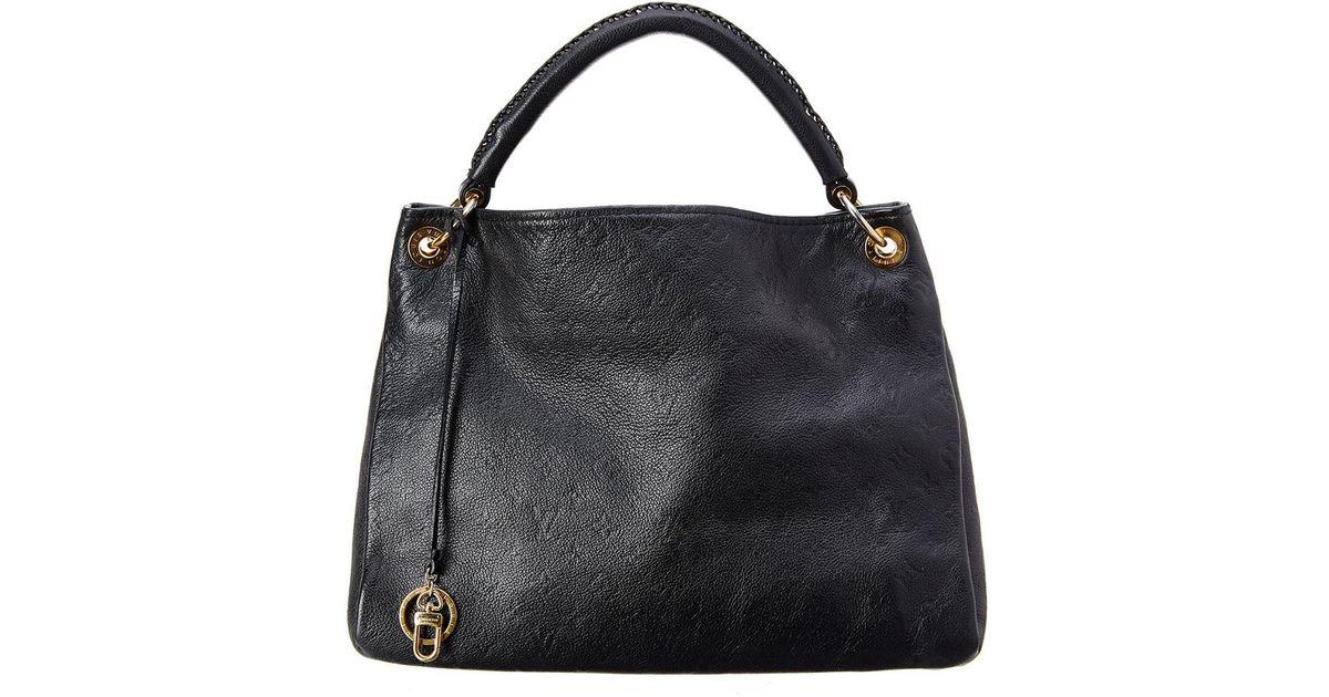 8eb13bb8d545a Louis Vuitton Bleu Infini Monogram Empreinte Leather Artsy Mm in Black -  Lyst