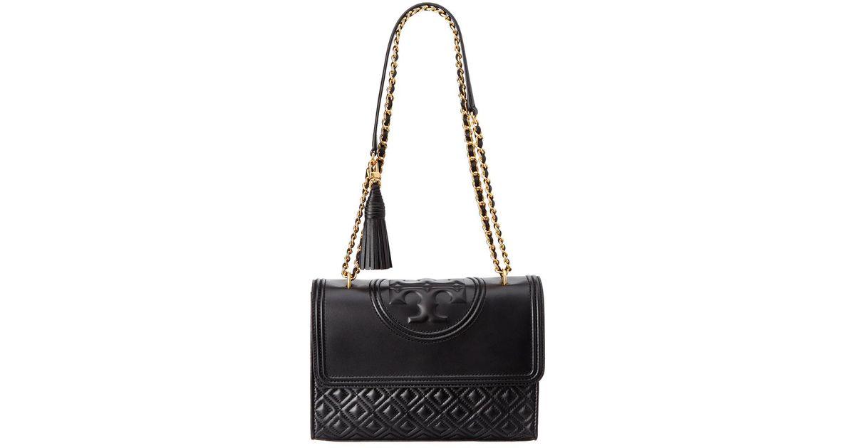 distinctive design free delivery top brands Tory Burch - Black Fleming Leather Convertible Shoulder Bag - Lyst