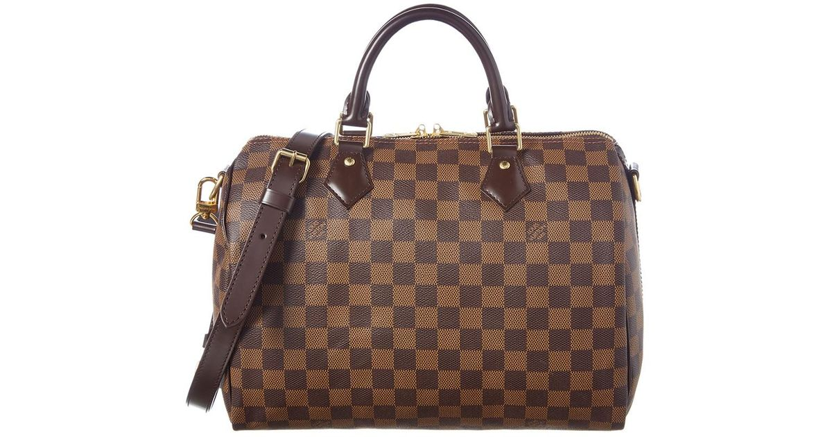 995e5f8d9289d Louis Vuitton Damier Ebene Canvas Speedy 30 Bandouliere in Brown - Lyst