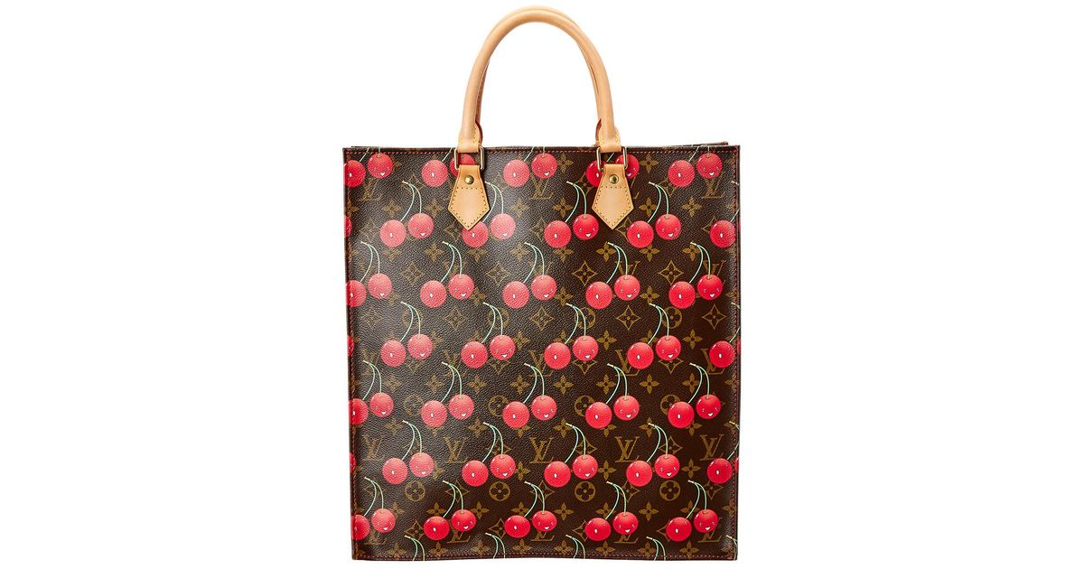 Lyst - Louis Vuitton Limited Edition Takashi Murakami Cerises Monogram Canvas  Sac Plat 6f633ea3ab571